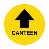 Canteen Arrow Floor Sticker | Safety-Label.co.uk
