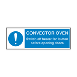 Convector Over Mandatory Sign | Safety-Label.co.uk