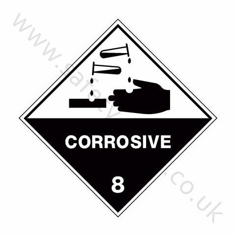 Corrosive 8 Sign - Safety-Label.co.uk