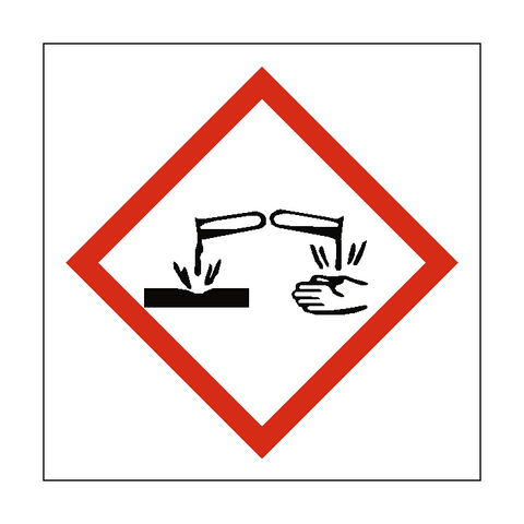 Corrosive COSHH Sign - Safety-Label.co.uk