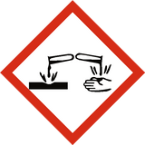 Corrosive COSHH Label - Safety-Label.co.uk