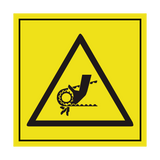 Crush Hazard Chain Motor ISO Label | Safety-Label.co.uk
