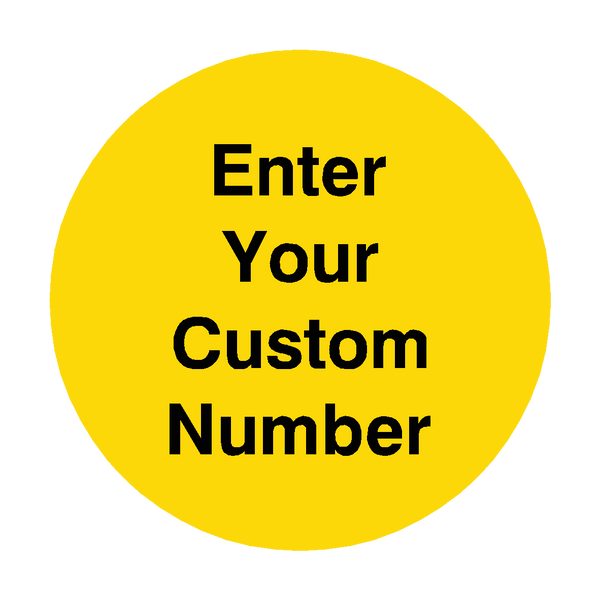 Custom Number Floor Marker | Safety-Label.co.uk