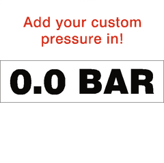 Custom BAR Tyre Pressure Sticker - Safety-Label.co.uk