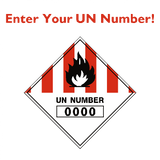 Custom UN Number Label | Safety-Label.co.uk