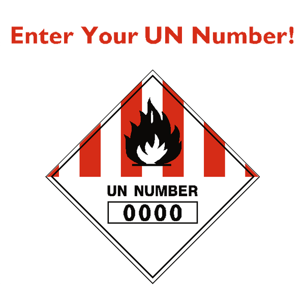 Custom UN Number Label - Safety-Label.co.uk