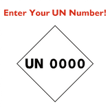 Custom UN Number Sticker | Safety-Label.co.uk