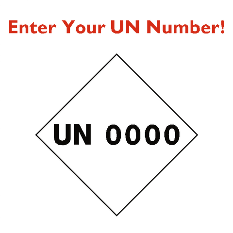 Custom UN Number Sticker - Safety-Label.co.uk