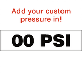 Custom PSI Tyre Pressure Sticker | Safety-Label.co.uk