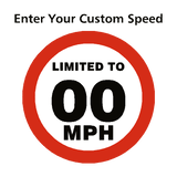 Custom Mph Speed Limit Sticker - Safety-Label.co.uk