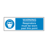 Respirators Must Be Worn Past This Point Safety Sign | Safety-Label.co.uk