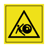 Danger Of Machine Running Backwards Label | Safety-Label.co.uk