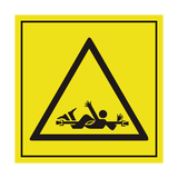 Danger Rotating Shaft ISO Label | Safety-Label.co.uk