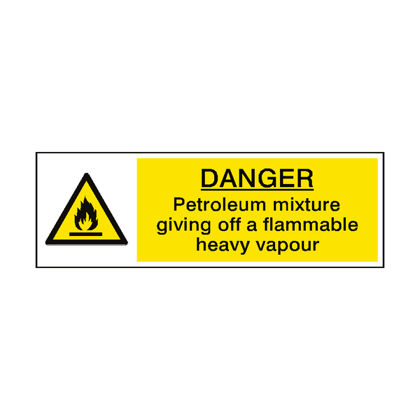 Danger Petrol Vapour Hazard Sign | Safety-Label.co.uk