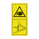 Danger Of Running Backwards On A Slope, Secure The Machine With Wedges Sticker | Safety-Label.co.uk