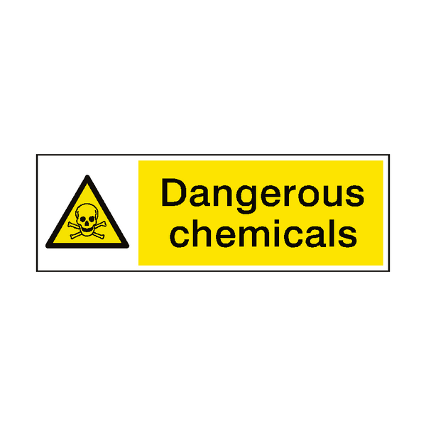 Dangerous Chemicals Hazard Sign - Safety-Label.co.uk