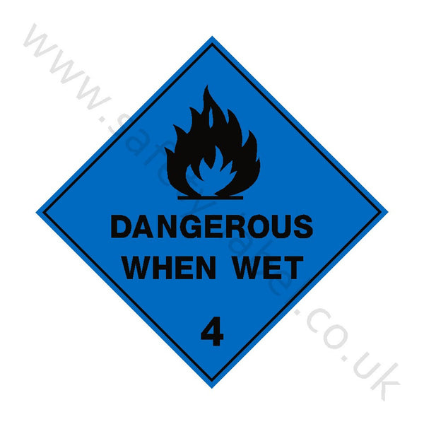 Dangerous When Wet 4 Sign | Safety-Label.co.uk