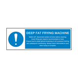 Deep Fat Frying Machine Instructions Sign | Safety-Label.co.uk