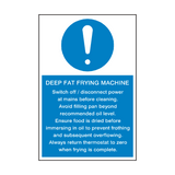 Deep Fat Frying Machine Mandatory Sign | Safety-Label.co.uk