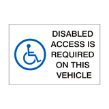 Disabled Access Sticker | Safety-Label.co.uk