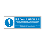 Dishwashing Machine Instructions Hygiene Sign | Safety-Label.co.uk