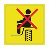 Do Not Ride In Machine Unless In Supplied Seat Label | Safety-Label.co.uk