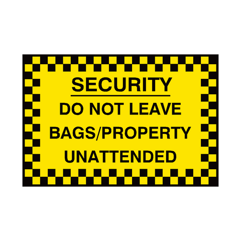 Do Not Leave Bags Sign - Safety-Label.co.uk