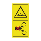Do Not Remove Or Open Safety Shield While Engine Is Running Sticker | Safety-Label.co.uk