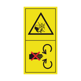 Do Not Remove Or Open Safety Shield Sticker | Safety-Label.co.uk