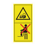 Do Not Ride On Machine Except In Supplied Seat Sticker | Safety-Label.co.uk