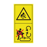Do Not Step On The Loading Platform If PTO Is Connected To The Tractor & Engine Is Running Sticker | Safety-Label.co.uk