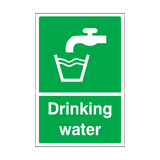 Drinking Water Sticker | Safety-Label.co.uk