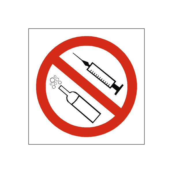 Drugs and Alcohol Warning Sign