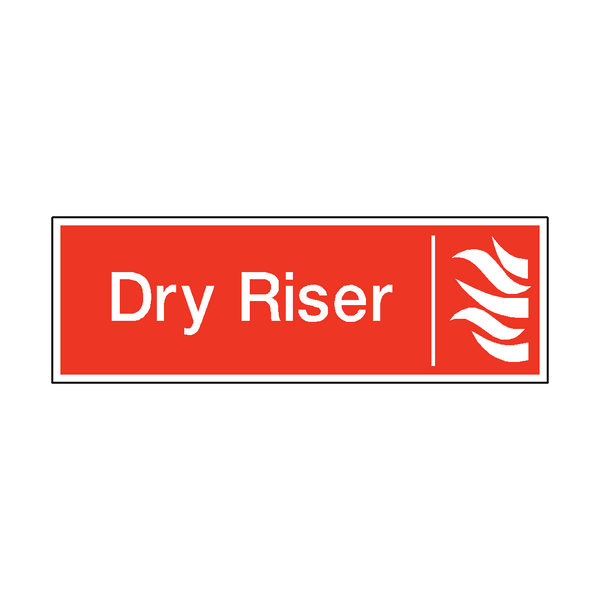 Dry Riser Safety Sticker - Safety-Label.co.uk