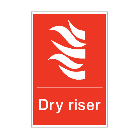 Dry Riser Sticker - Safety-Label.co.uk