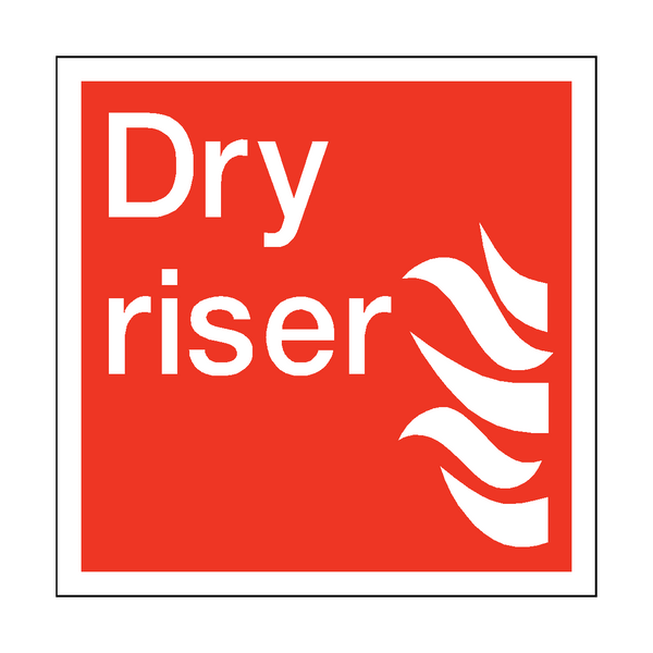 Dry Riser Square Sticker - Safety-Label.co.uk