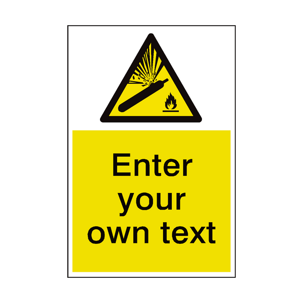 Explosive Gas Custom Hazard Sticker | Safety-Label.co.uk