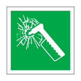 Emergency Hammer Symbol Sign | Safety-Label.co.uk