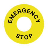 Emergency Stop Legend Label | Safety-Label.co.uk