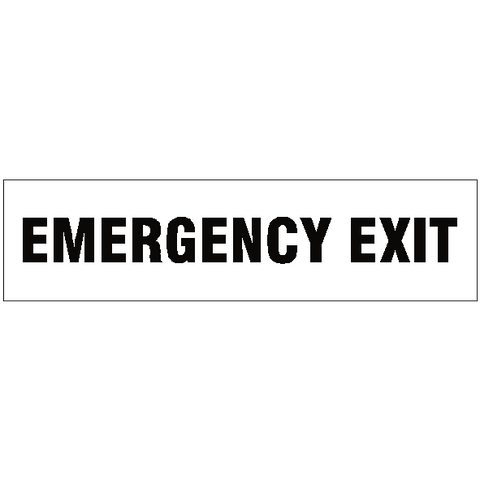 Emergency Exit Legal Lettering Sticker - Safety-Label.co.uk