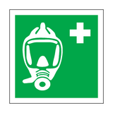 Emergency Escape Breathing Device Symbol Sign | Safety-Label.co.uk