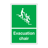 Evacuation Chair Sticker | Safety-Label.co.uk