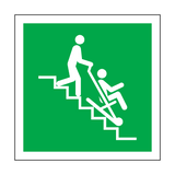 Evacuation Chair Symbol Sign | Safety-Label.co.uk