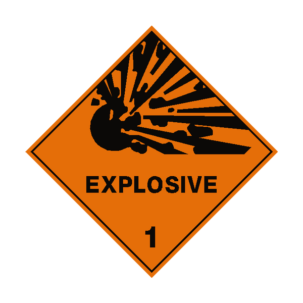 Explosive 1 Label - Safety-Label.co.uk