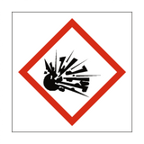 Explosive COSHH Sign - Safety-Label.co.uk