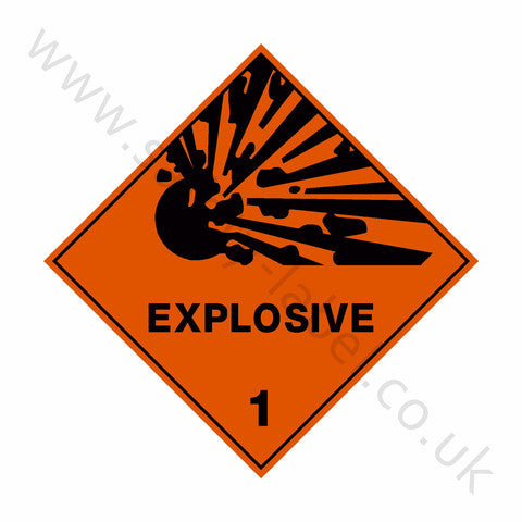 Explosive 1 Sign - Safety-Label.co.uk