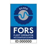 FORS Silver Sticker - Safety-Label.co.uk