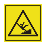 Falling Hazard Symbol Label | Safety-Label.co.uk