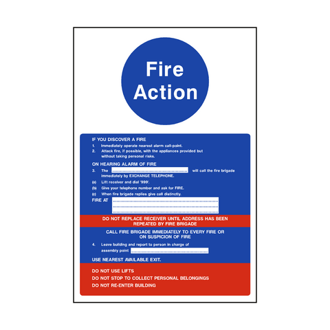 Fire Action Notice Version 2 - Safety-Label.co.uk