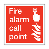 Fire Alarm Call Point Square Sticker - Safety-Label.co.uk